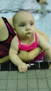 Riley swim class
